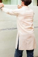 Купить белую мужскую курту, интернет магазин Инд Базар. Бесплатная пересылка по всему миру