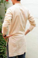Белые индийские курты с бесплатной доставкой из Индии. Большие размеры мужских курт в наличии