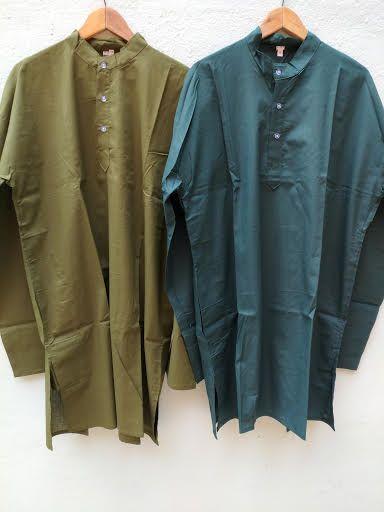 Разные цвета! Мужские индийские длинные рубашки курты большого размера (отправка из Индии)