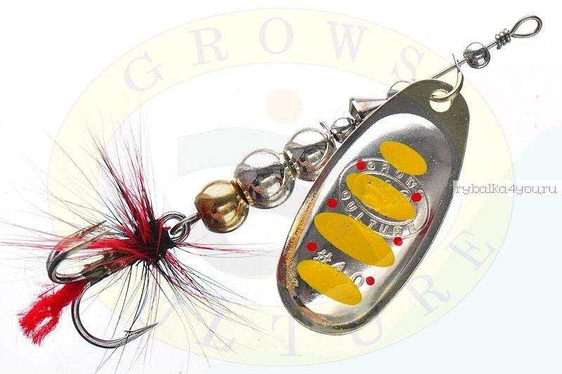 Купить Блесна Grows Culture Ball Bearing Spinner 4.0 # / цвет: №6 11,5 гр 4 см