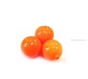 Мягкая приманка Trout Zone Boil 12мм (плавающ.) / упаковка 20 шт / цвет: оранжевый /аттракант: креветка