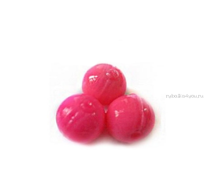 Купить Мягкая приманка Trout Zone Boil 12мм (плавающ.) / упаковка 20 шт цвет: розовый /аттракант: икра (тест)