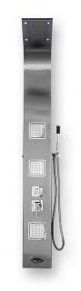 Душевая панель BYON 968 1650х200 нерж. сталь