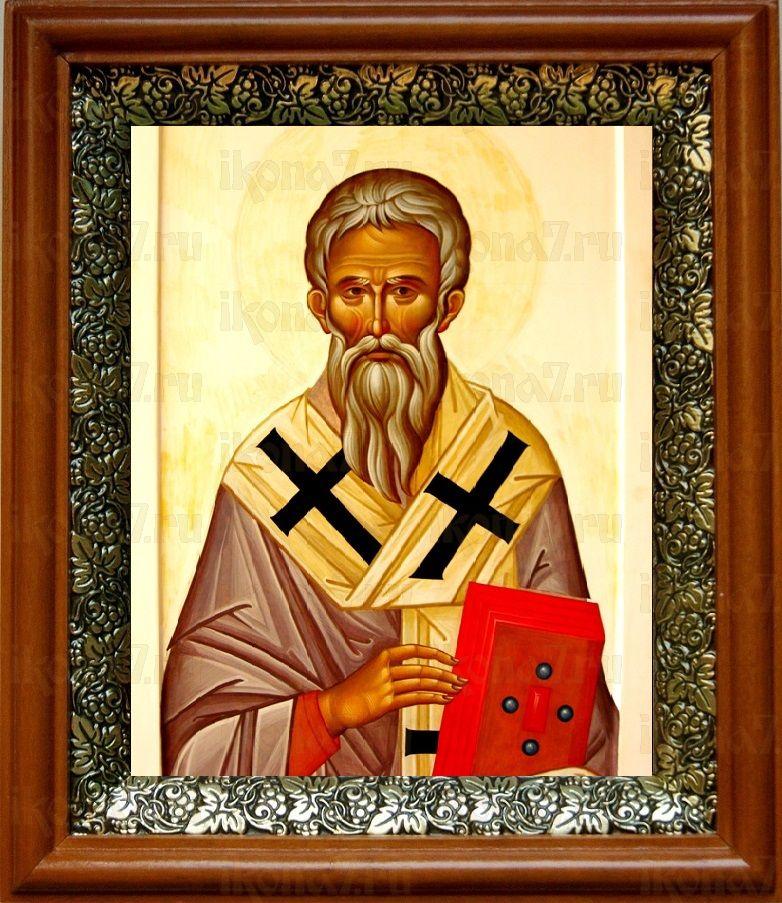 Геннадий Новгородский (19х22), светлый киот