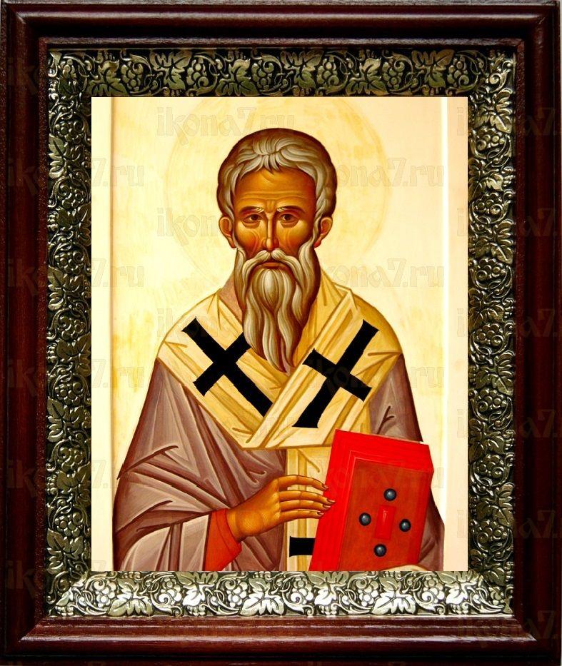 Геннадий Новгородский (19х22), темный киот
