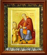 Герасим Иорданский (19х22), светлый киот