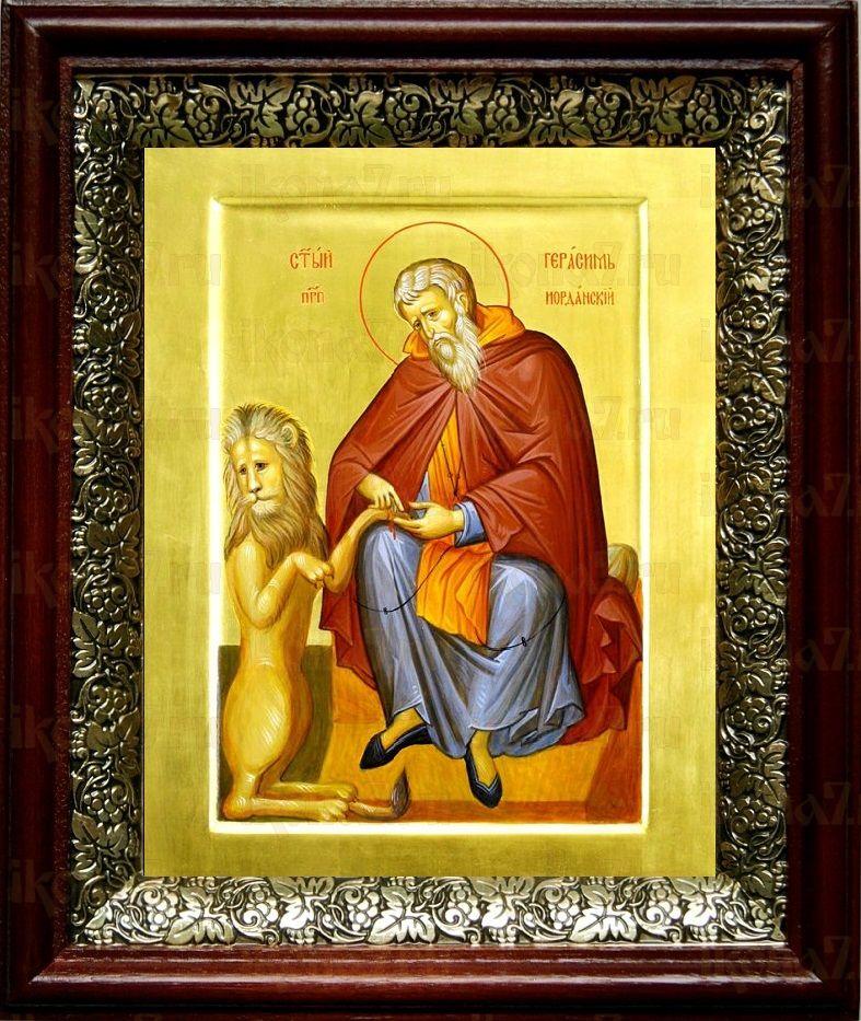 Герасим Иорданский (19х22), темный киот