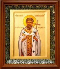 Григорий Двоеслов (19х22), светлый киот