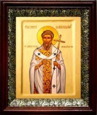 Григорий Двоеслов (19х22), темный киот