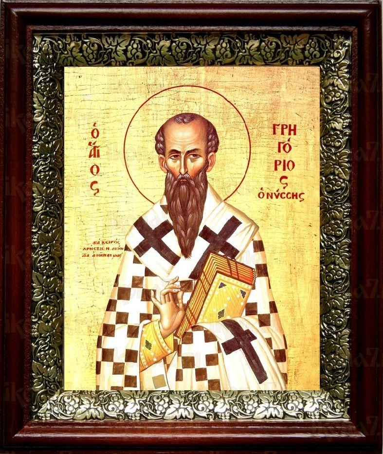 Григорий Нисский (19х22), темный киот