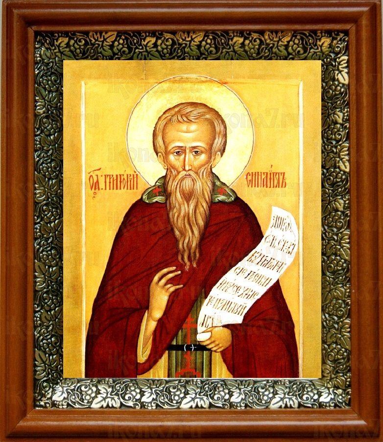 Григорий Синаит (19х22), светлый киот