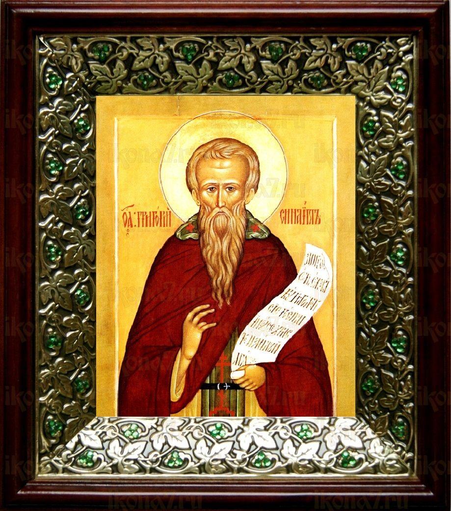 Григорий Синаит (21х24), киот со стразами
