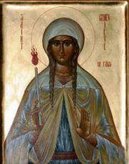 Геновефа Парижская ( Женевьева)  (рукописная икона)