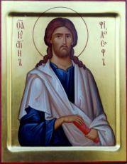 Иустин Философ  (рукописная икона)