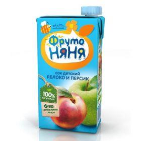 Фрутоняня Сок яблочно-персиковый неосветленный 500мл