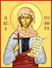 Исидора Тавенская (рукописная икона)