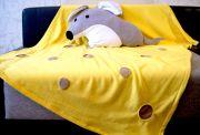 плед сыр и подушка-игрушка мышка - новогодний подарок
