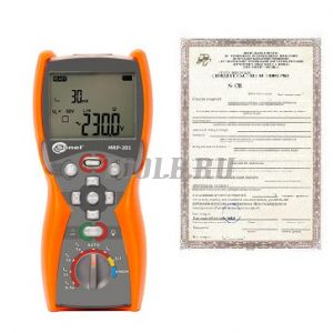 Поверка измерителя напряжения прикосновения и параметров устройств защитного отключения