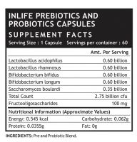Синбиотик (комбинация пре- и пробиотика) в капсулах Инлайф | INLIFE Prebiotics and Probiotics Supplement