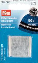 PR.977500 PRYM Светоотражающая лента для вязания, ширина 0,5мм, 100% полиэтилентерефталат уп.50м