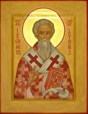 Ириней Лионский (Лугдунский)   (рукописная икона)