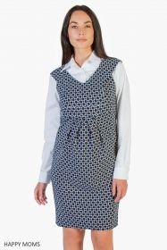 Платье для беременных черно белое Артикул: 99361