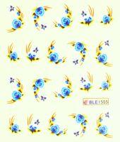 Водная наклейка для дизайна ногтей BLE 1555