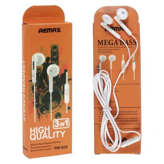 Наушники вакуумные - гарнитура Remax RM-609