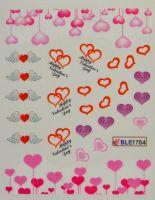 Водная наклейка для дизайна ногтей BLE 1764