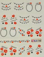 Водная наклейка для дизайна ногтей BLE 1766