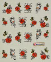 Водная наклейка для дизайна ногтей BLE 1770