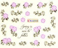 Водная наклейка для дизайна ногтей BLE 2006