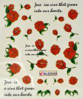 Водная наклейка для дизайна ногтей BLE 2009