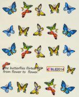 Водная наклейка для дизайна ногтей BLE 2014