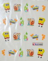 Водная наклейка для дизайна ногтей  BLE 1605