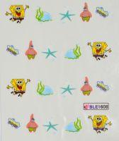Водная наклейка для дизайна ногтей  BLE 1608
