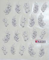 Водная наклейка для дизайна ногтей  BLE 1344