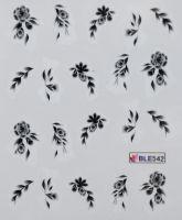Водная наклейка для дизайна ногтей  BLE542