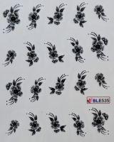 Водная наклейка для дизайна ногтей  BLE535