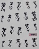 Водная наклейка для дизайна ногтей  BLE532