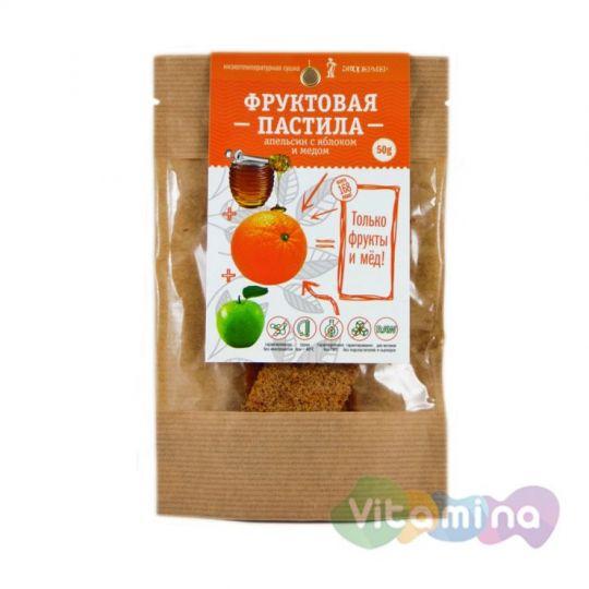 Фруктовая пастила Апельсин с яблоком и мёдом, 50 г