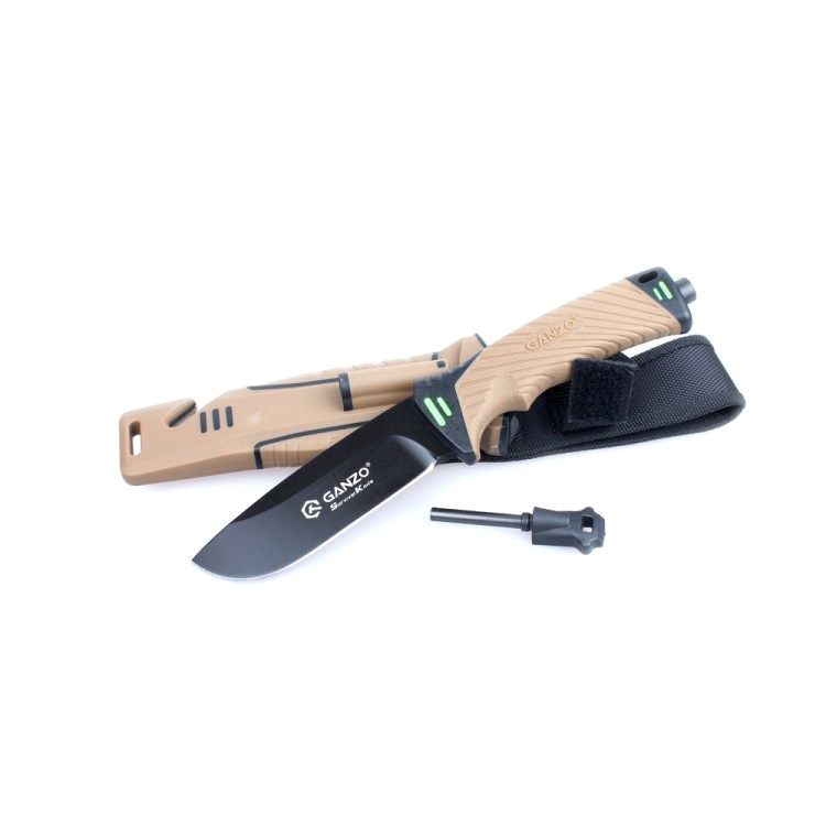 Нож Ganzo G8012 Коричневый