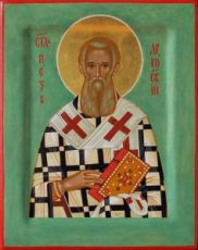 Петр Аргосский  (рукописная икона)