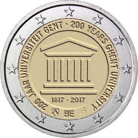 200 лет основания Гентского университета 2 евро Бельгия 2017 Блистер на заказ