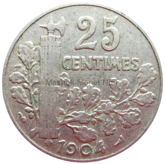 Франция 25 сентим 1904 г.