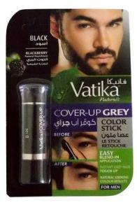 Краска закрашивающая седину Cover-up Crey color stick Blackberry- Black for Men(Черный).