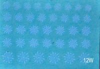 "Наклейка на водной основе ""Снежинки белые""  12W"