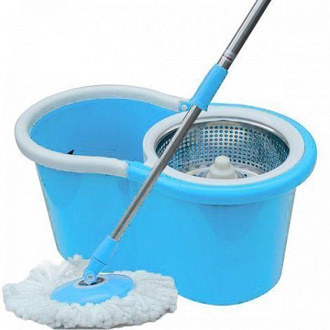Набор для уборки Fashion Goods (швабра, ведро с колесиками и стальной центрифугой)