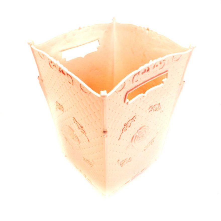 Пластиковая декоративная корзина с ручками, 18*18*25 см