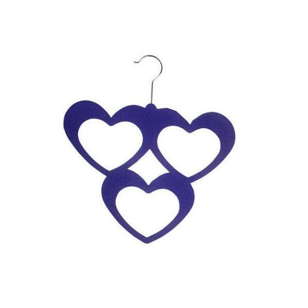 Набор вешалок с велюровым покрытием Три сердца, 5 штук